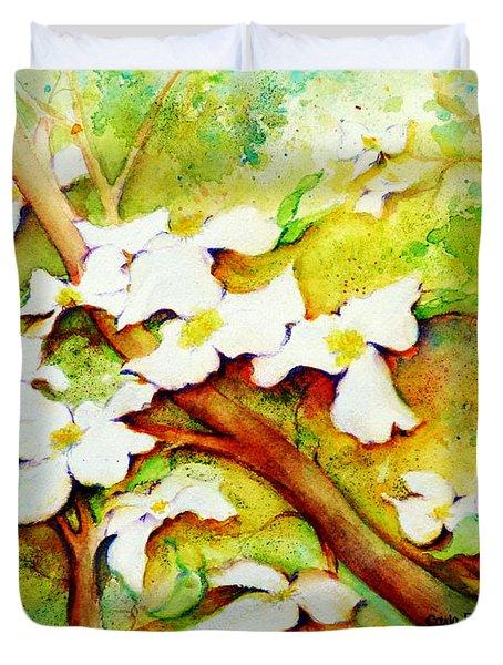 Dogwood Flowers Duvet Cover by Carla Parris