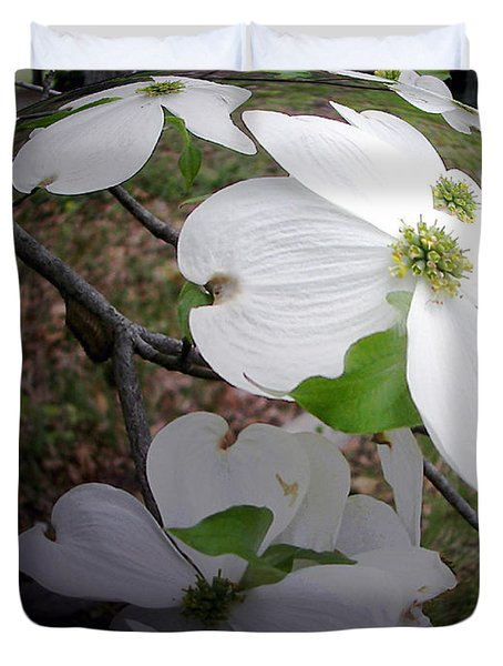 Dogwood Under Glass Duvet Cover