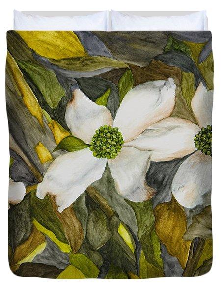 Dogwoods Duvet Cover by Mary Ann King