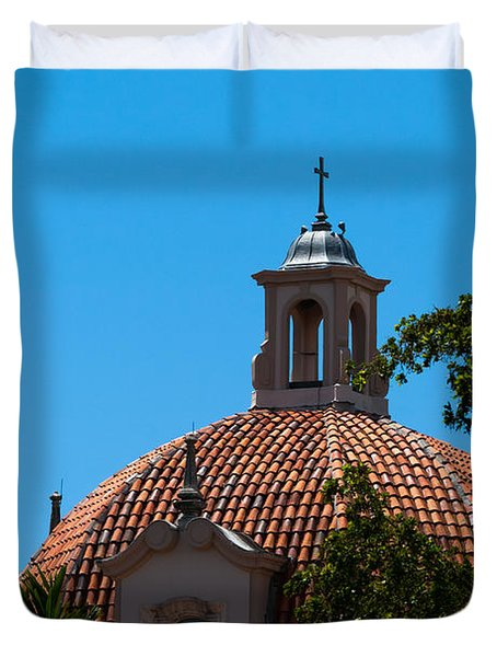 Duvet Cover featuring the photograph Dome At Church Of The Little Flower by Ed Gleichman