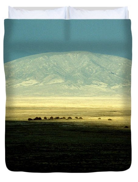 Duvet Cover featuring the photograph Dome Mountain by Brent L Ander