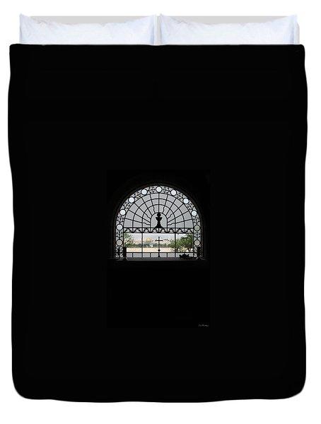 Dominus Flevit Church Mount Of Olives Duvet Cover by Jennifer Kathleen Phillips