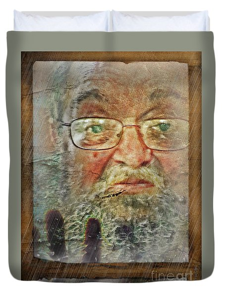 Duvet Cover featuring the digital art Don't You See Me?  I'm Here. .  by Rhonda Strickland