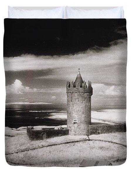 Doonagore Tower Duvet Cover by Simon Marsden
