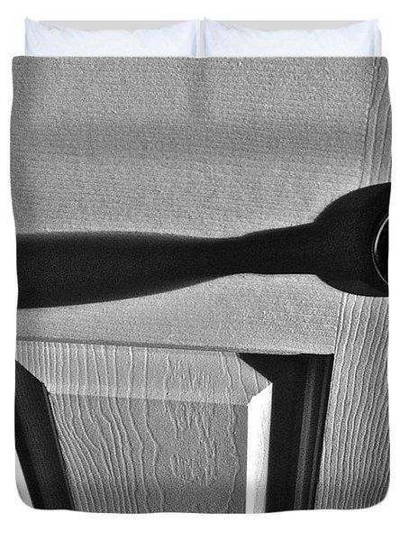Duvet Cover featuring the photograph Doorknob by Bill Owen