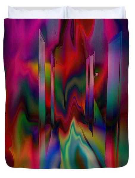 Duvet Cover featuring the photograph Doors In My Dream by David Pantuso
