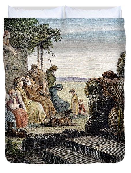 Dor�: Prodigal Son Duvet Cover by Granger