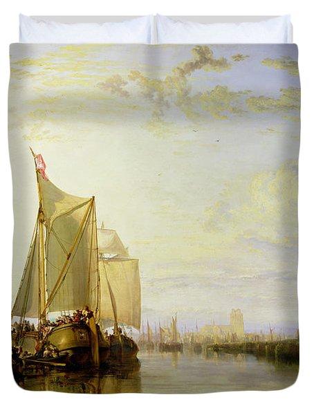 Dort Or Dordrecht - The Dort Packet-boat From Rotterdam Becalmed Duvet Cover by Joseph Mallord William Turner