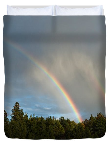 Double Blessing Duvet Cover by Cheryl Baxter