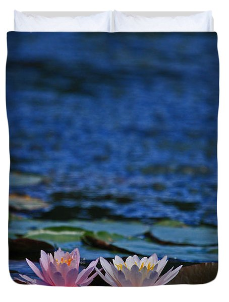Double Lily Duvet Cover by Karol Livote