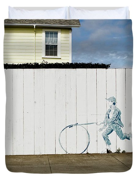 Downhill Buddy Duvet Cover
