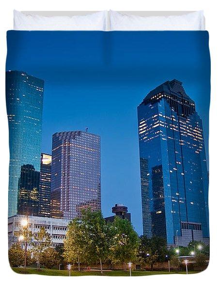 Downtown Houston Duvet Cover