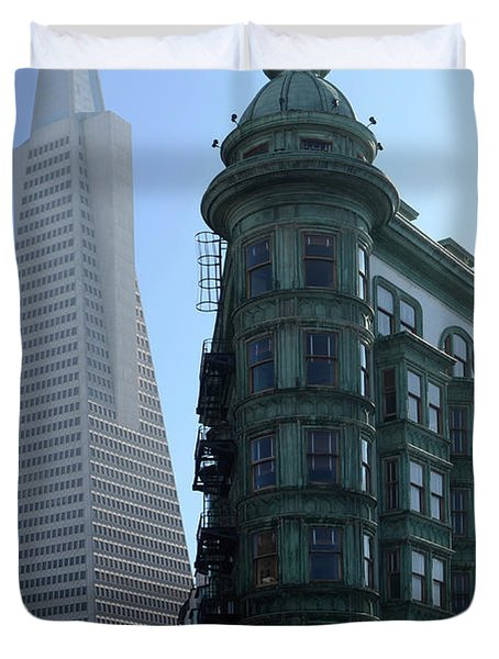 Downtown San Francisco 2 Duvet Cover by Bob Christopher