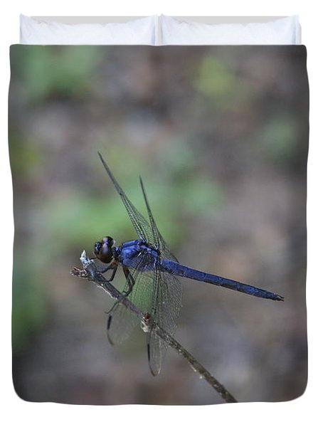 Duvet Cover featuring the photograph Dragonfly by Jerry Bunger