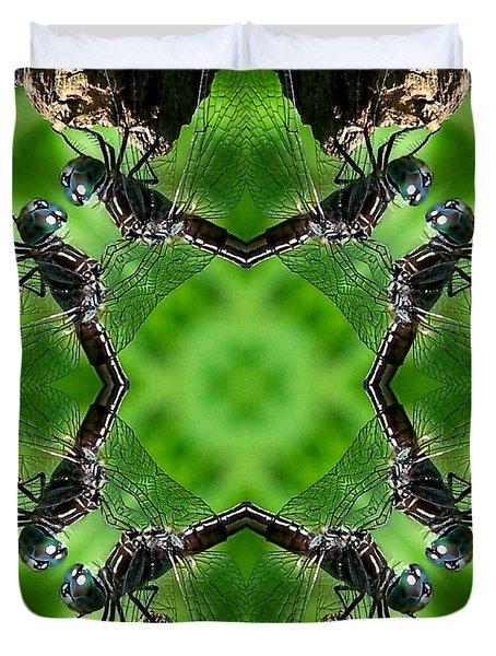 Dragonfly Kaleidoscope Duvet Cover