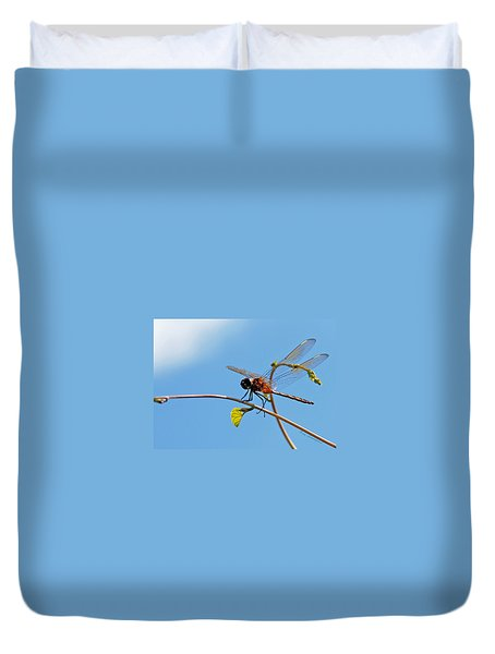 Dragonfly On A Vine Duvet Cover by Kay Lovingood