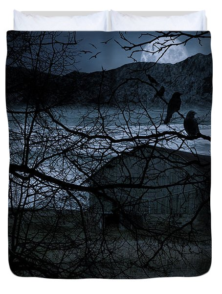 Dreadful Silence Duvet Cover by Lourry Legarde