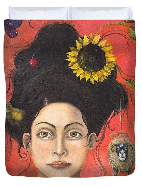 Dream Hair 2 Duvet Cover by Leah Saulnier The Painting Maniac