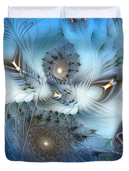 Duvet Cover featuring the digital art Dream Journey by Casey Kotas