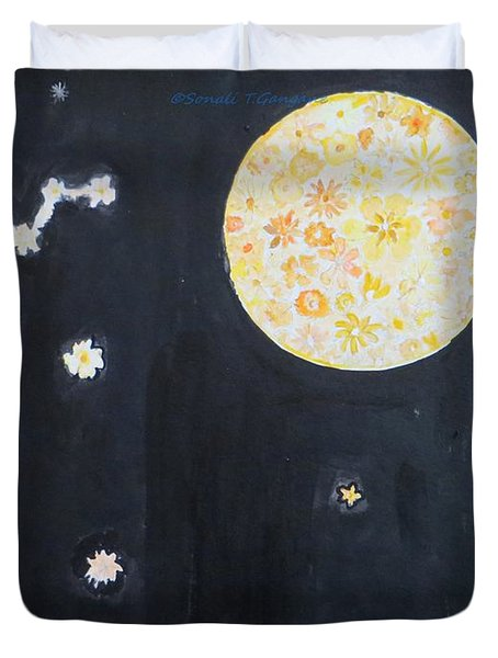 Duvet Cover featuring the painting Dream by Sonali Gangane
