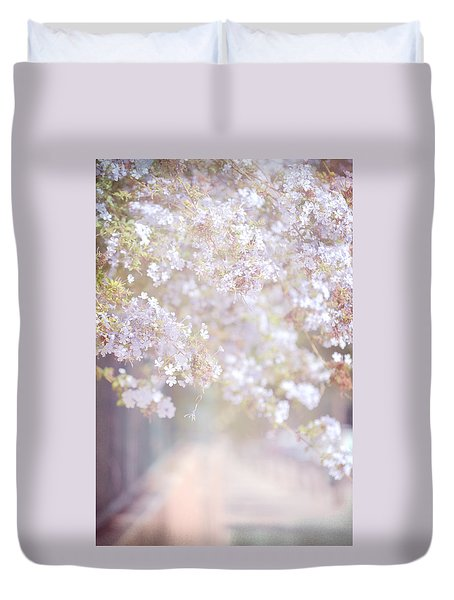 Dreaming Of Spring Duvet Cover by Jenny Rainbow