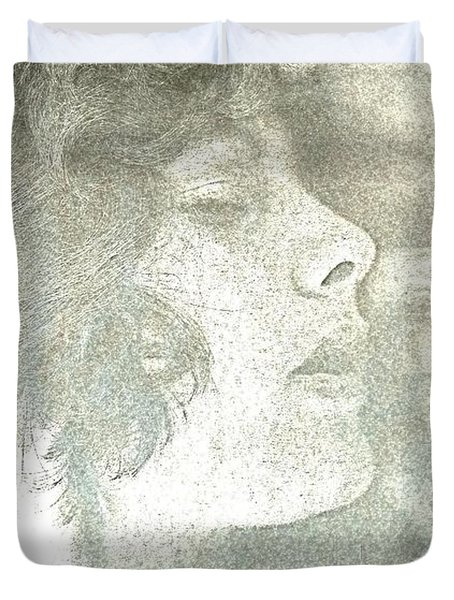 Duvet Cover featuring the photograph Dreaming by Rory Sagner