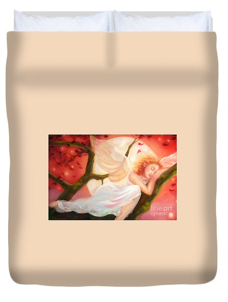 Dreams Of Strawberry Moon Duvet Cover