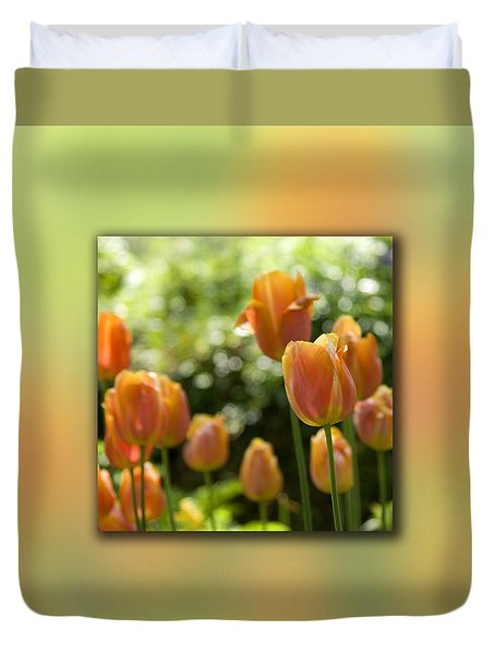 Dreamy Tulip Flowers Duvet Cover by Pixie Copley