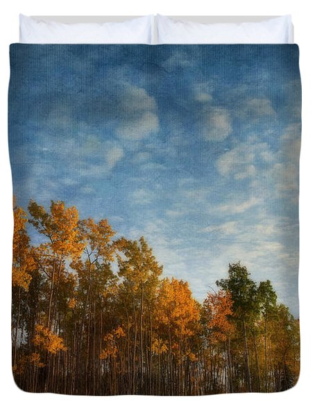 Dressed In Autumn Colors Duvet Cover by Priska Wettstein