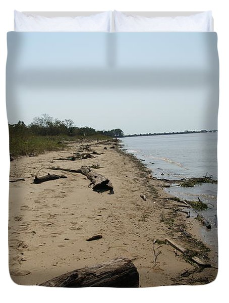 Duvet Cover featuring the photograph Driftwood by Charles Kraus
