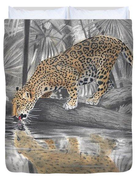 Drinking Jaguar Duvet Cover