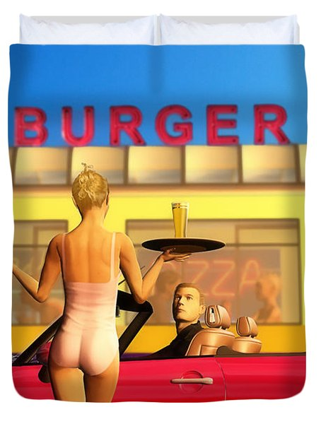 Drive-in Duvet Cover by John Edwards
