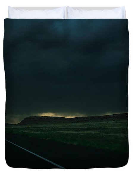 Duvet Cover featuring the photograph Driving Rain Number One by Lon Casler Bixby