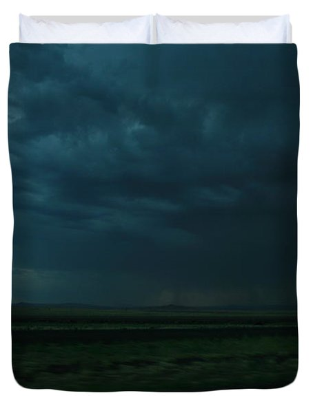 Duvet Cover featuring the photograph Driving Rain Number Two by Lon Casler Bixby