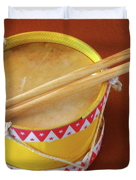 Drum Toy Duvet Cover by Carlos Caetano