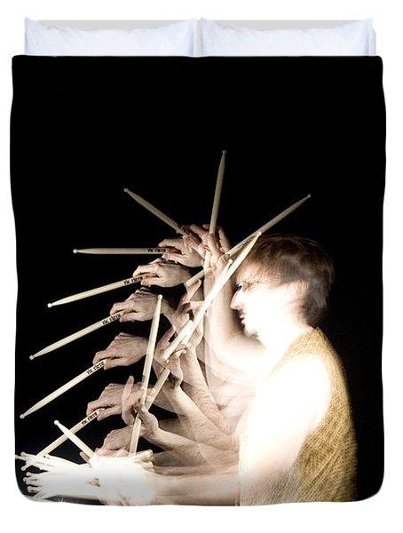 Drummer Duvet Cover by Ted Kinsman
