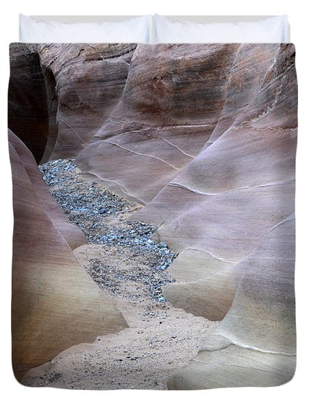 Dry Creek Bed 3 Duvet Cover by Bob Christopher
