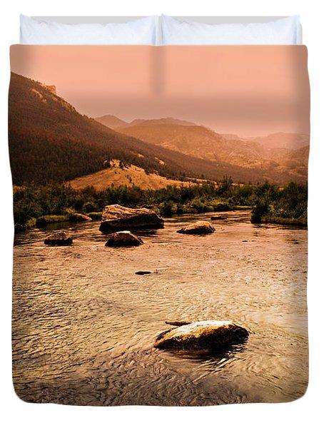 Dubois Sunset Duvet Cover by Marty Koch