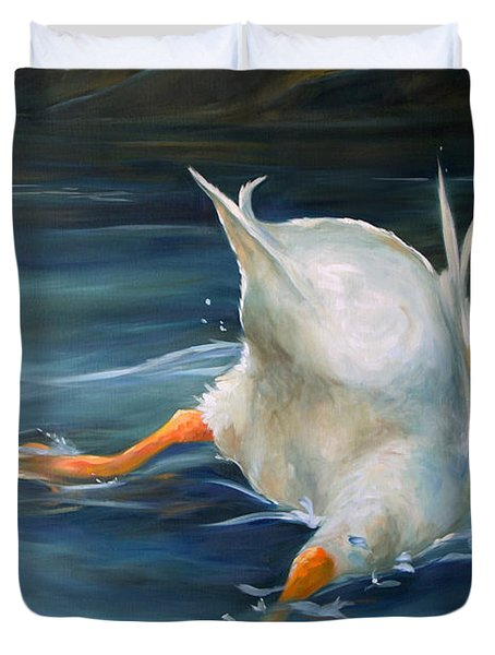 Duck Butt Duvet Cover by Mary Sparrow