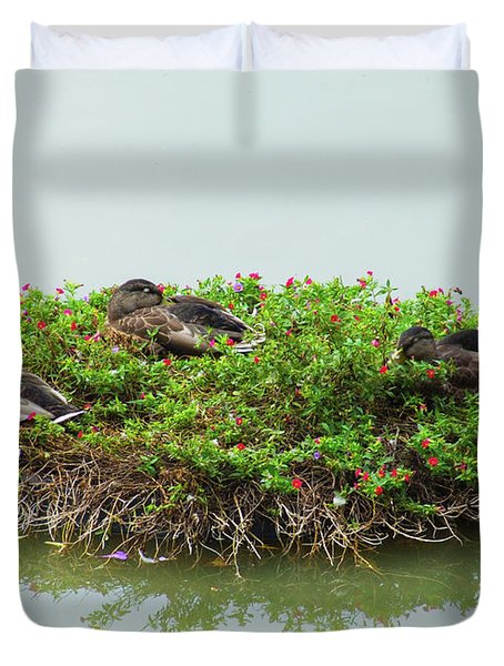 Duck Heaven Duvet Cover
