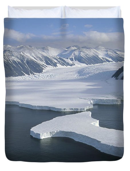 Dugdale And Murray Glaciers Antarctica Duvet Cover by Tui DeRoy