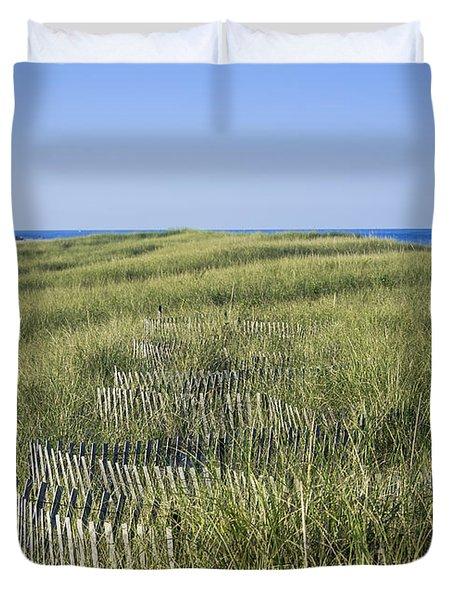 Dune Fence Duvet Cover by John Greim