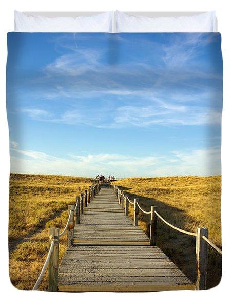 Dune Walkway Duvet Cover by Carlos Caetano