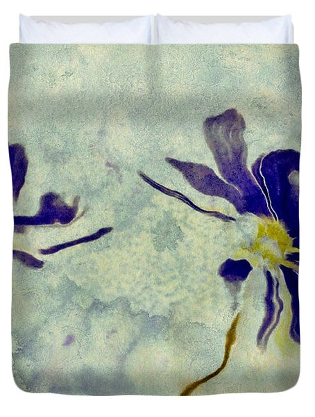 Duo Daisies Duvet Cover by Variance Collections