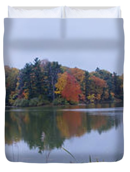 Duvet Cover featuring the photograph Durand Lake by William Norton