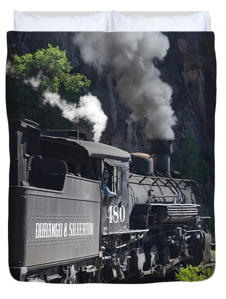 Durango And Silverton Historic Train Duvet Cover by Stuart Wilson and Photo Researchers