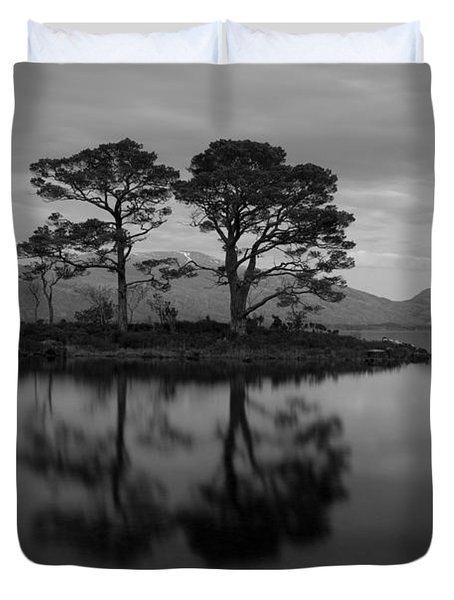 Dusk At Loch Maree Duvet Cover
