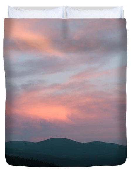 Dusk At Priest Lake Duvet Cover by David Patterson