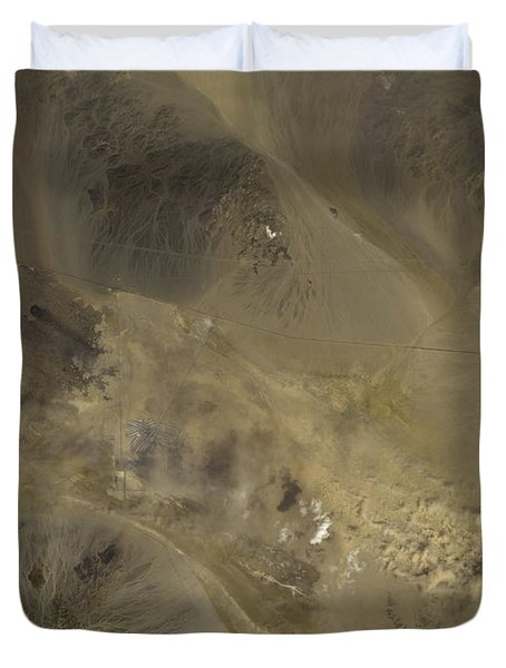 Dust Storm In Southern California Duvet Cover by Nasa