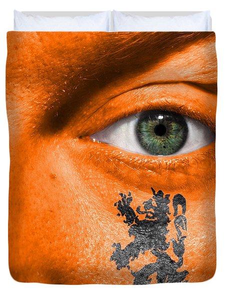Dutch Lion - Coat Of Arms Duvet Cover by Semmick Photo